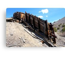 Old mining ore on top of Petersen Mountain,Cold Springs,(Reno) Nevada USA Canvas Print