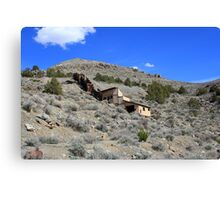Abandoned on the side of the mountain, Cold Springs,(Reno) Nevada USA Canvas Print