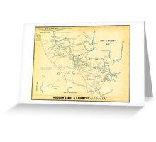 Canada USA Maps  Manuscript Early works to 1800. Greeting Card