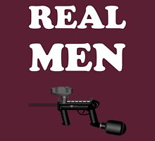 Paintball. Real Men Paintball. WHI. Unisex T-Shirt