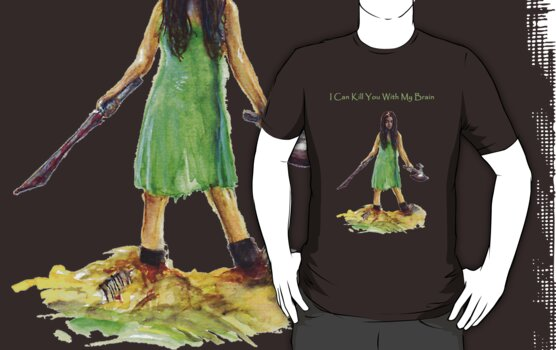 River Tam I Can Kill You With My Brain Dark Color T-shirts Version by gothscifigirl