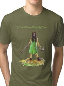 River Tam I Can Kill You With My Brain Dark Color T-shirts Version Tri-blend T-Shirt
