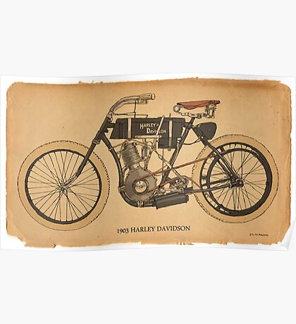 1903 Harley Davidson Poster