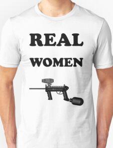 Paintball. Real Women Paintball. BL. Unisex T-Shirt