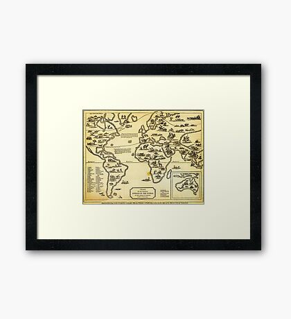 Chart of Principal Animals of the World (1831) Framed Print