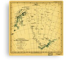 Chart to illustrate the paper on the drift of the Endurance - antarctica 1918 Canvas Print