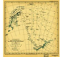 Chart to illustrate the paper on the drift of the Endurance - antarctica 1918 Photographic Print