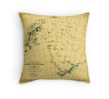 Chart to illustrate the paper on the drift of the Endurance - antarctica 1918 Throw Pillow