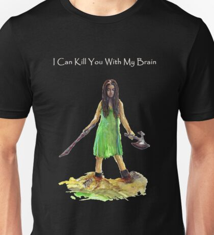 River Tam I Can Kill You With My Brain Dark Color T-shirts Grey Letters Version Unisex T-Shirt