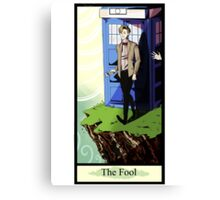Eleventh Doctor- The Fool Canvas Print