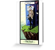 Eleventh Doctor- The Fool Greeting Card