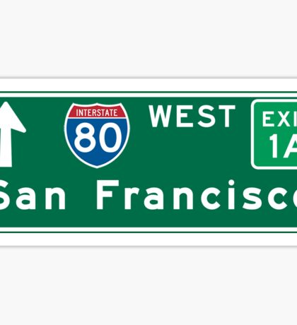 San Francisco, CA Road Sign, USA Sticker