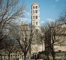 Fenestrelle Tower of Saint Theodorit Cathedral Uzes 198403040016 by Fred Mitchell