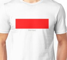 Red [Box Logo] Unisex T-Shirt
