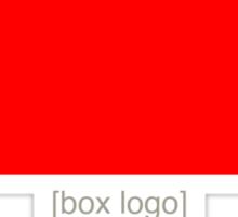 Red [Box Logo] Sticker