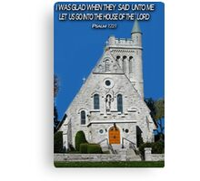 † ❤ † CHURCH OF THE GOOD THIEF KINGSTON ONTARIO / BIBLICAL TEXT† ❤ † Canvas Print