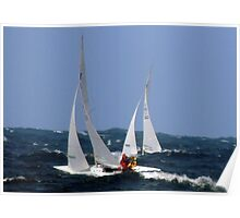 Weekend sailing off Eastern Suburbs. Poster