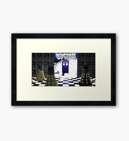 Doctor Who??? Framed Print