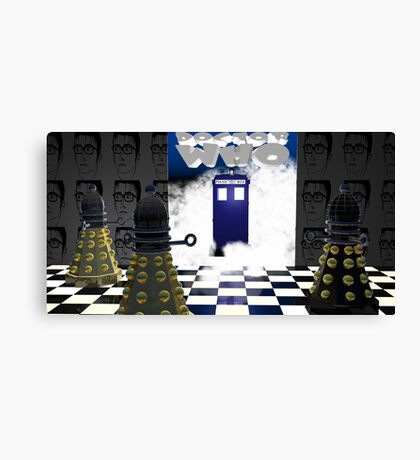Doctor Who??? Canvas Print