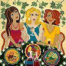 &#x27;Three Girlfriends Celebrate&#x27;  by Lisa Frances Judd ~ Original Australian Art
