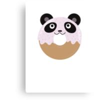 Panda Donut Canvas Print