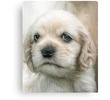 Cocker Pup Portrait Canvas Print