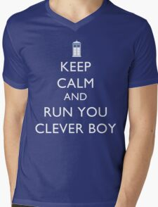 Run You Clever Boy Mens V-Neck T-Shirt