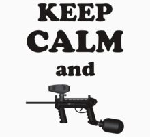 Paintball. Keep Calm and Paintball 1. BL. T-Shirt