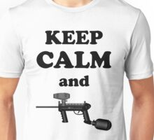 Paintball. Keep Calm and Paintball 1. BL. Unisex T-Shirt