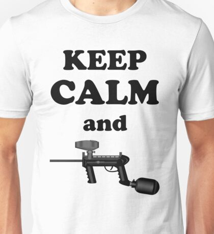 Paintball. Keep Calm and Paintball 1. BL. Unisex T-Shirt