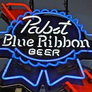 Pabst Blue Ribbon Beer Sign by DrBillCreations