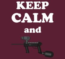 Paintball. Keep Calm and Paintball 1. WHI. T-Shirt