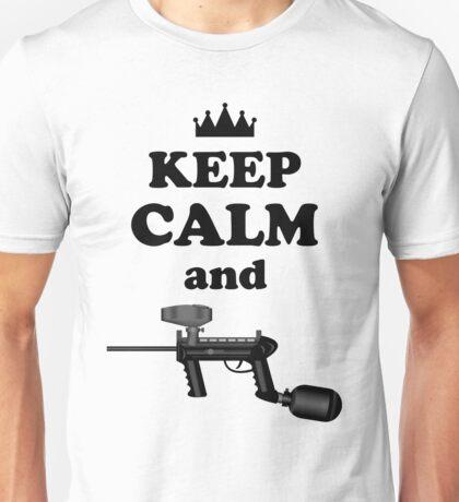 Paintball. Keep Calm and Paintball 2. BL. Unisex T-Shirt