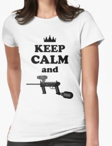Paintball. Keep Calm and Paintball 2. BL. Womens Fitted T-Shirt