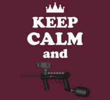 Paintball. Keep Calm and Paintball 2. WHI. by DavidAtchley