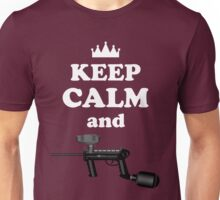 Paintball. Keep Calm and Paintball 2. WHI. Unisex T-Shirt