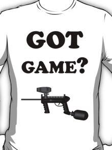 Paintball. Got Game? BL. T-Shirt