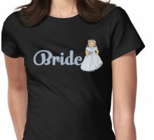 Teddy Bear Wedding - Bride Womens Fitted T-Shirt