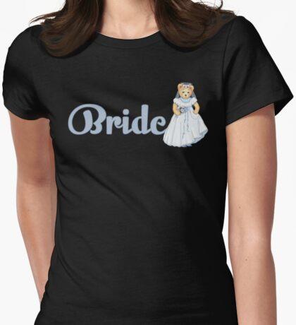 Teddy Bear Wedding - Bride Womens Fitted T-Shirt