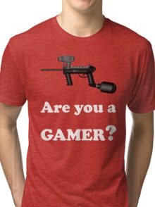 Paintball. Are You A Gamer? WHI. Tri-blend T-Shirt