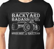 Backyard Badass Race Team White Unisex T-Shirt