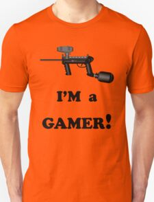 Paintball. I'm A Gamer. BL. Unisex T-Shirt