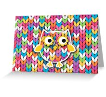 Knitted Owl Greeting Card