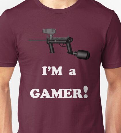 Paintball. I'm A Gamer. WHI. Unisex T-Shirt