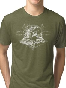 Spartan - White (Grunge Effect) Tri-blend T-Shirt
