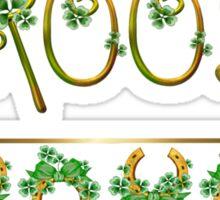 Irish Shamrock Wedding - Groom Sticker