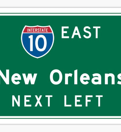 New Orleans, LA Road Sign, USA Sticker