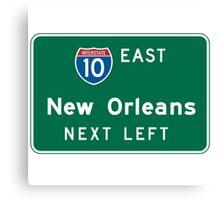 New Orleans, LA Road Sign, USA Canvas Print