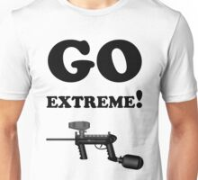 Paintball. Go Extreme. BL. Unisex T-Shirt