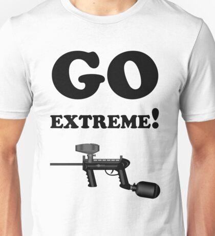 Paintball. Go Extreme. BL. Unisex T-Shirt